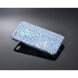 Diamond Flower Bling Swarovski Crystal Phone Cases - Blue