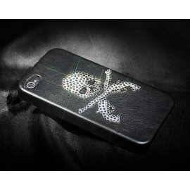 Skull Gun Bling Swarovski Crystal Phone Cases