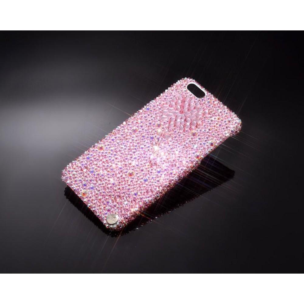 Diamond Flower Bling Swarovski Crystal Phone Cases - Pink
