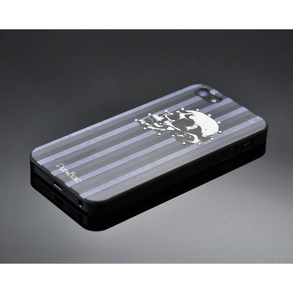 Skull Masculine Bling Swarovski Crystal Phone Cases - Black