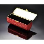 Classic Bling Swarovski Crystal Lipstick Case With Mirror – Orange